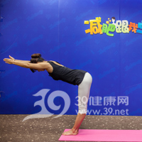 鸳鸟式瘦腿瑜伽4
