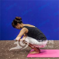 鸳鸟式瘦腿瑜伽7