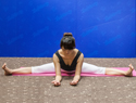 坐角式瑜伽瘦腿