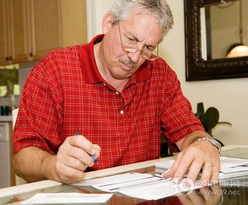 中老年 男 表格 填写 单张 写字_2870387_xxl