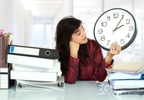 青年 女 文件 时间 时钟 工作时间_12004795_xxl