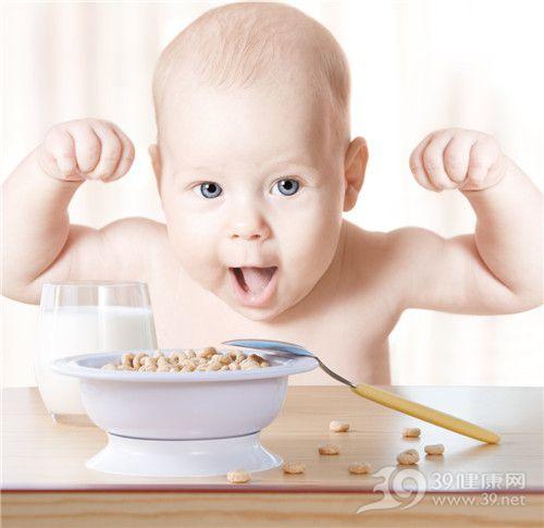 孩子 婴儿 牛奶 谷物 吃东西 勺子_12374463_xxl