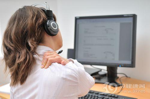 青年 女 电脑 酸痛 脖子 颈椎 肩膀 疼痛 工作 办公室_6959075_xxl