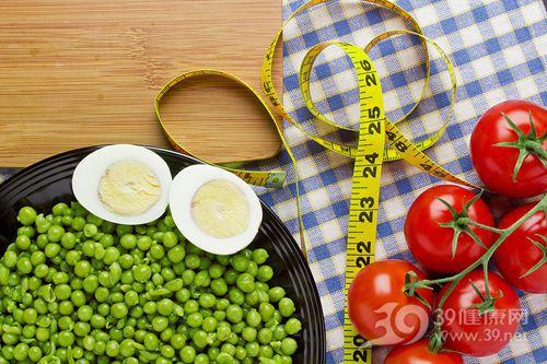 鸡蛋 煮鸡蛋 蛋黄 青豆 西红柿 软尺 减肥 早餐 营养餐 减肥餐_18146368_xxl