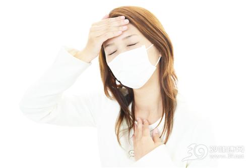 青年 女 生病 发烧 感冒 口罩_31337737_xxl