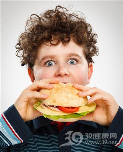 孩子 男 汉堡 肥胖 吃东西_15498384_xxl