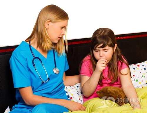 孩子 女 生病 咳嗽 医生 护士_33282129_xxl