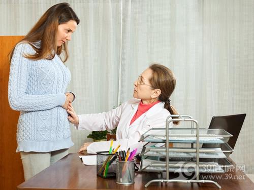 青年 女 生病 腹部 怀孕 孕妇 医生 看病 就诊_28410587_xxl