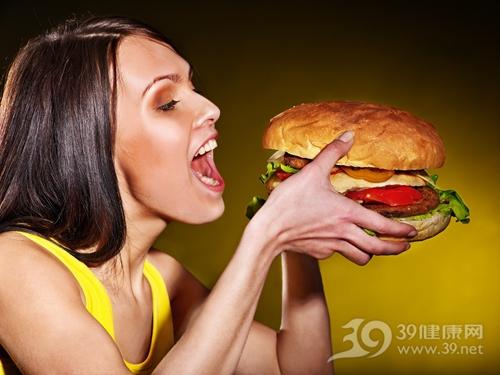 青年 女 汉堡 快餐 暴食_20654492_xxl