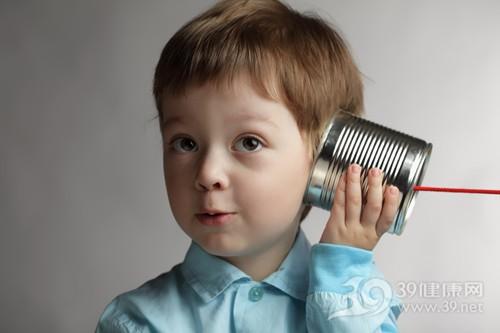 孩子 男 听筒 耳朵 声音_13899949_xxl