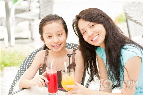孩子 女 母亲 亲子 果汁 西瓜汁 橙汁_14427058_xxl