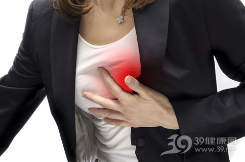 青年 女 心脏 心痛 心绞痛 胸 胸闷 疼痛 生病_ 17282122_xxl