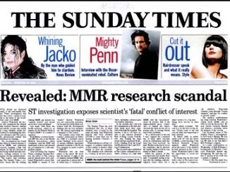 星期日时报揭露疫苗引起自闭症研究丑闻