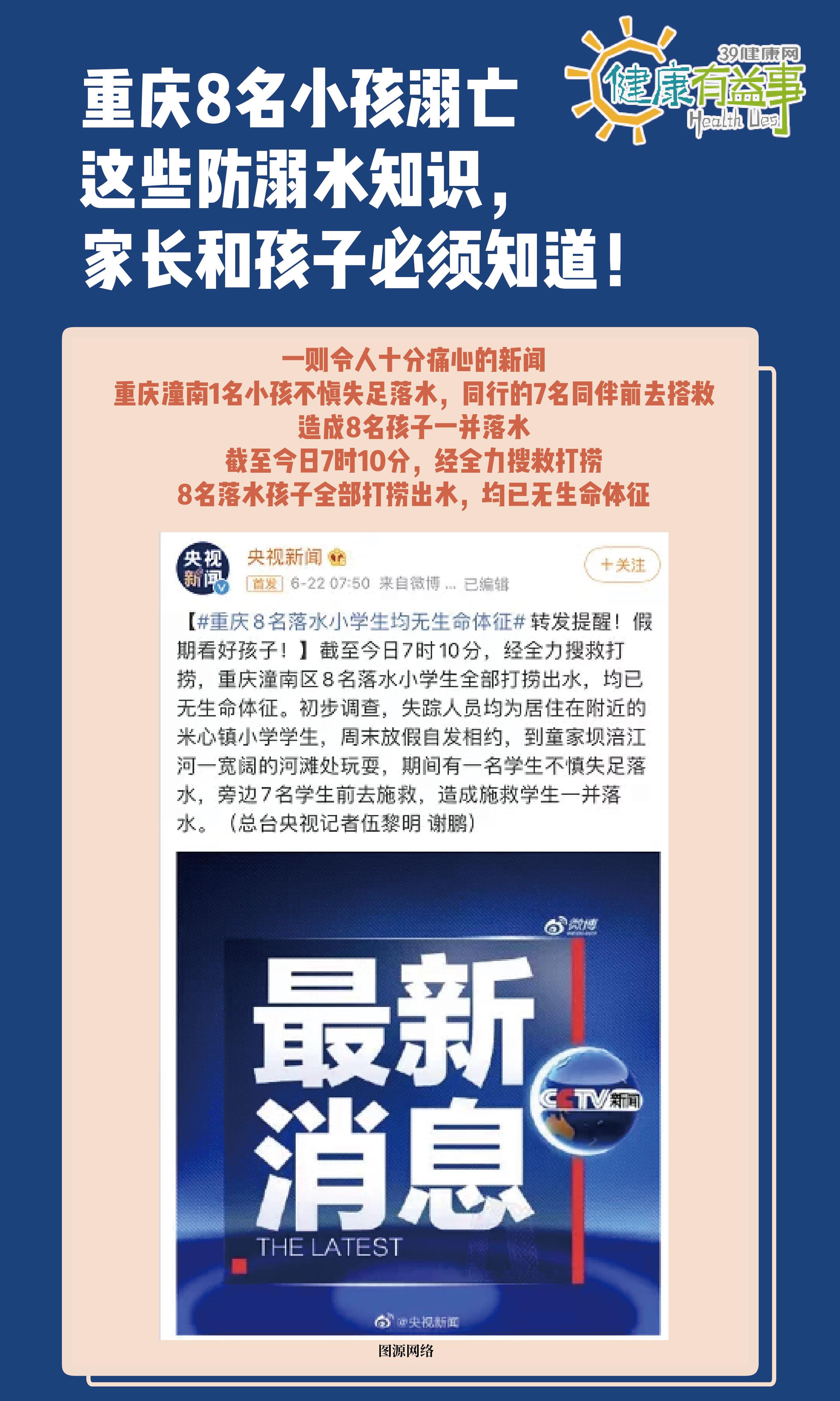 重庆8名小孩溺亡,这些防溺水知识,家长和孩子必须知道!