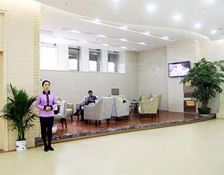 郑州风湿病医院前台休息区